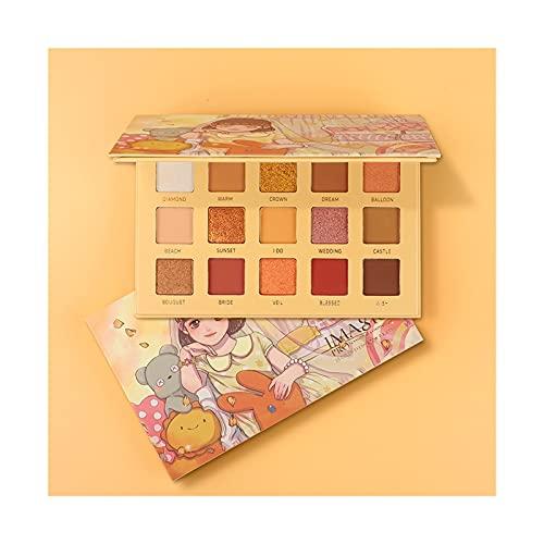 HLH Paleta de Sombras de Ojos de 15 Colores, Paleta de Maquillaje Profesional (Color : 329)