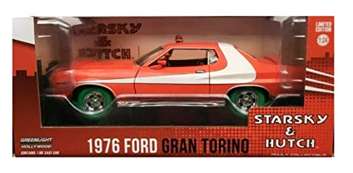 Greenlight Chase Green Machine 84042 Starsky & Hutch Torino 1:24 Scale w/Green Tires -  GreenLight Collectibles
