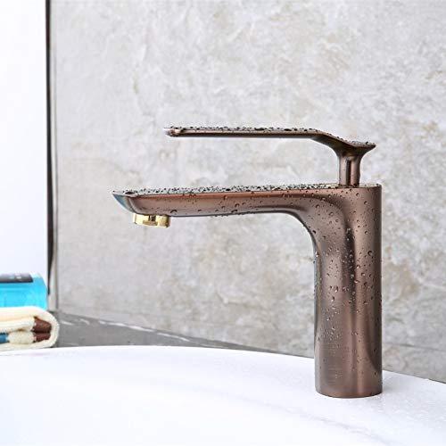 CHEN grifo de cocina Moda Lujo Latón sólido Construcción Caliente y fría 8 'Grifo de lavabo general Grifo de lavabo con base de jade