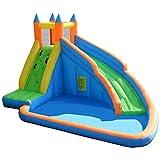 Castillo Hinchable para Niños, Hamaca Inflable con Piscina De Agua, Tobogán Largo, Muro De Escalada, Centro De Actividades para Niños