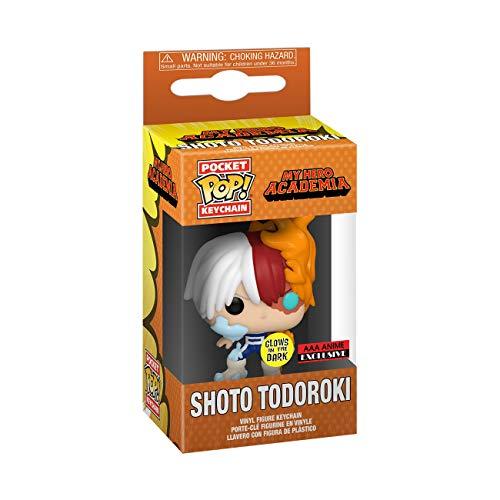 Funko My Hero Academia Shoto Todoroki (GITD) Pocket Pop Keychain (AAA Anime Exclusive)