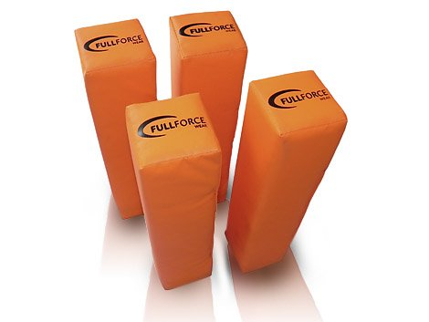 Full Force American Football End Zone Pylone, beschwerte (Set of 4), orange