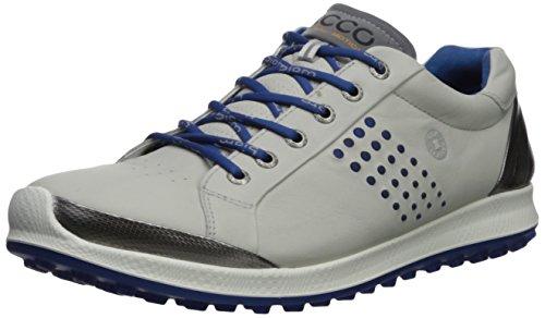 ECCO Men's Biom Hybrid 2 Hydromax Golf Shoe, Concrete/Royal, 6-6.5