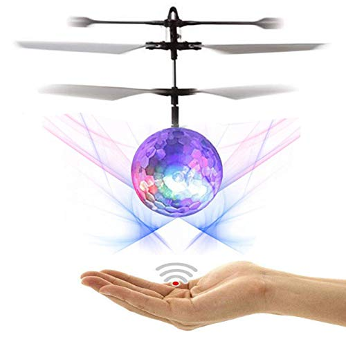 NiGHT LiONS TECH Novelty RC Toy, RC Flying Ball, RC Infrared Induction Helicopter Ball Built-in Shinning LED Lighting for Kids, Teenagers Indoor and Outdoor Games ,Colorful Flyings for Kid's Toy Gift