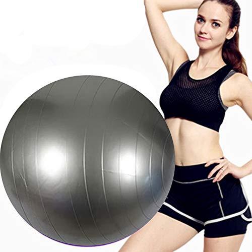 FCFLXJ Pelota de ejercicio de 45 cm/55 cm/65 cm/75 cm/85 cm, pelota de gimnasio antiestallido y antideslizante, pelota de equilibrio, uso en la oficina, gimnasio o hogar, gris, 45 cm