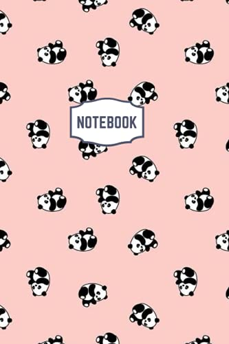 NOTEBOOK: NOTEBOOK: Panda Rosy Theme - Size ( 6 x 9 inches) 100 Pages, Wide Ruled Paper   Notebook Journal   Writing & Office Pa