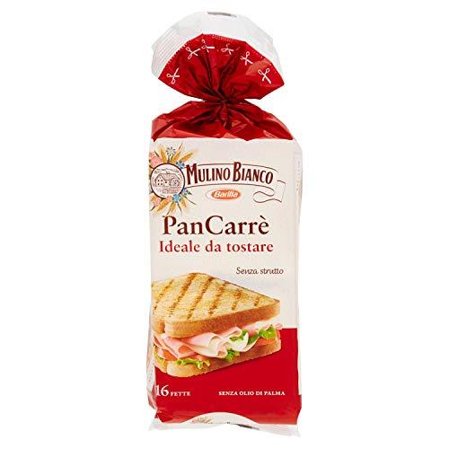 Mulino Bianco Pan Carrè senza Strutto Ideale da Tostare 16 Fette, 285g