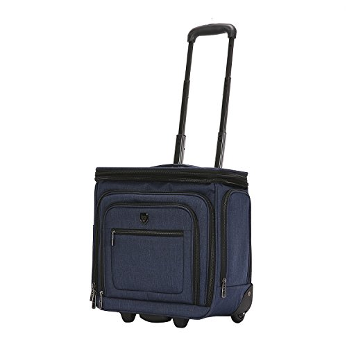 Travelers Club 16' Top Expandable Rolling Underseater W/USB Port, Suitcase, Carry-On, Navy Blue