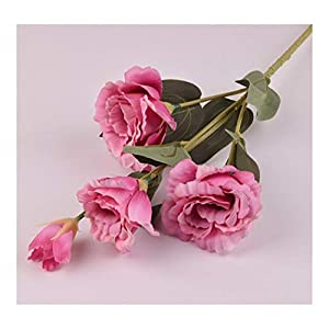 Fresh Gardenia Artificial Flowers Silk Simulation Platycodon Grandiflorum Botanical Plant Home Wedding Decoration Color (Color : Pink)