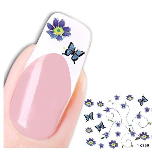 Just Fox – 3D Stickers ongles New Design Papillon Paillettes Butterfly autocollants pour nail art