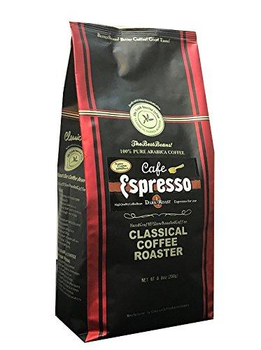 コーヒー豆 クラシカルコーヒーロースター 100%アラビカ豆 カフェエスプレッソ 250g (8.8oz) 細挽