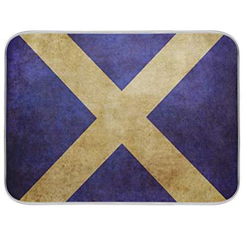 Alfombrilla para secar platos Microfibra Encimeras de cocina Protector de almohadilla seca 16 x 18 pulgadas Bandera de Escocia