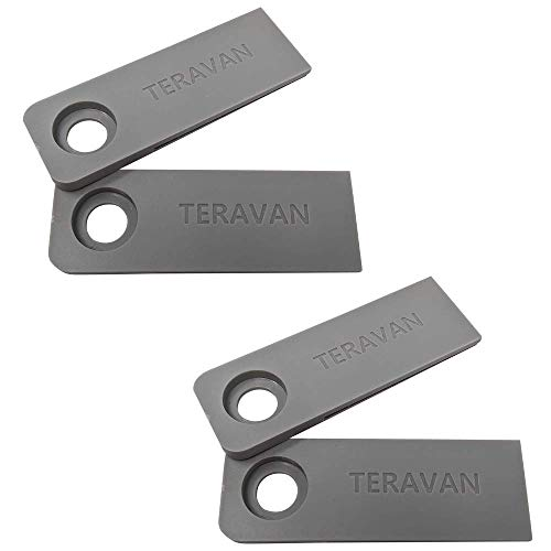 Teravan Fixed Extender Tabs - Toilet Paper Adhesive Extending Adapter Set for Larger Rolls - Grey, 2 Pack
