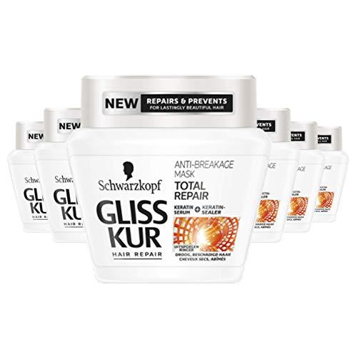Schwarzkopf Gliss Kur Total Repair Anti-Breakage Haarmasker 300ml, 6 stuks
