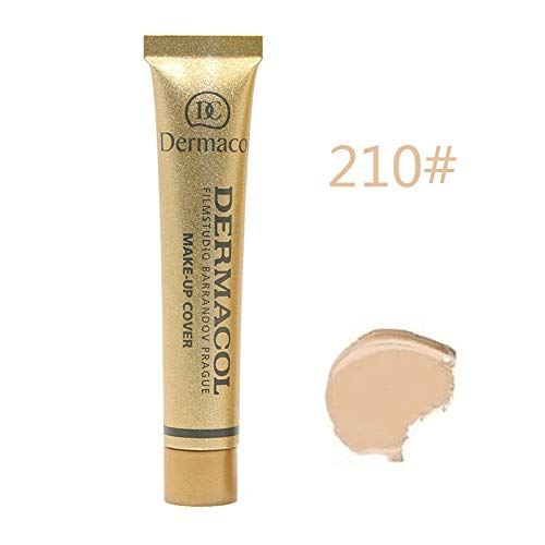 Dermacol Make-up Cover - Base de maquillaje altamente opaca e impermeable con FPS 30