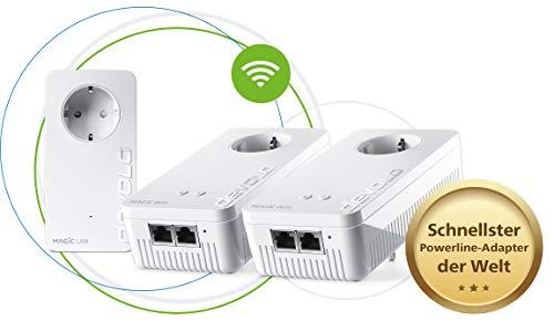 Devolo Magic 2 WiFi next: wereldwijd de snelste multiroomset voor high-speed mesh WLAN via de stroomleiding in het hele huis, ideaal voor streaming (2400 Mbit/s, G.hn-technologie, 5x Gigabit LAN)