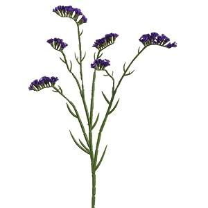 24″ Silk Statice Flower Spray -Purple (Pack of 12)