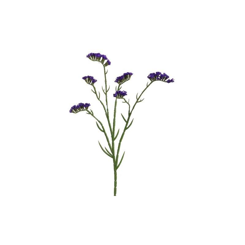 """silk flower arrangements 24"""" silk statice flower spray -purple (pack of 12)"""