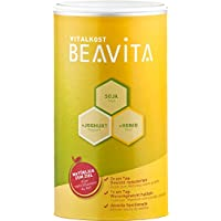BEAVITA Vitalkost sabor vainilla - 500g - 218 kcal por porción - Sin gluten ni conservadores artificiales - Suplemento dietético con proteína, vitaminas y minerales - Fórmula mejorada para adelgazar