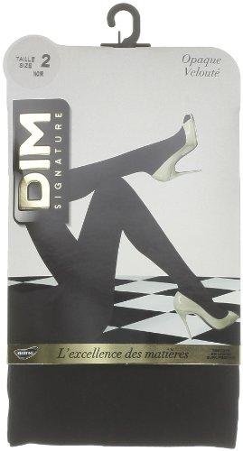 Dim Signature Opaque Velouté - Collants - Uni - Femme, Noir, FR: 2 (Taille fabricant: 2)