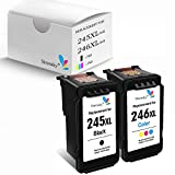 Sirensky 245 XL Remanufactured Ink Cartridge Replacement for Canon PG-245XL High Yield Used for MX492 TS3120 MG2522 MX490 MG2920 MG2922 MG2520 MG3020 TS302 Printer (1Color1Black)