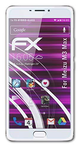 atFolix Glasfolie kompatibel mit Meizu M3 Max Panzerfolie, 9H Hybrid-Glass FX Schutzpanzer Folie