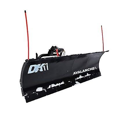DK2 Avalanche AVAL8422 Universal Heavy Duty Snow Plow Kit 84 x 19 x 2 Inch Receiver Mount, Black