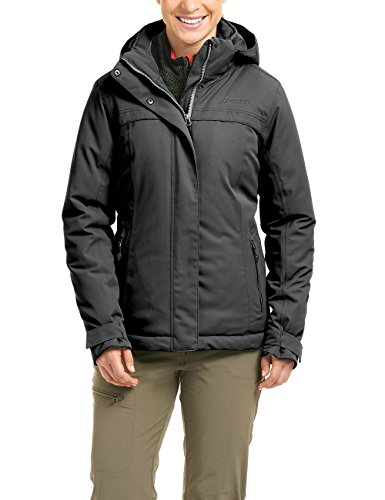 Maier Sports Damen Outdoor Jacke Wattiert Lisbon, Schwarz, 24
