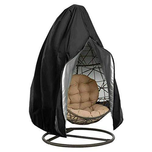 MOZX Hanging Chair Cover, Waterproof Anti-Dust Outdoor Garden Chair Covers with Zipper And Drawstring, 210D Oxford Fabric Anti-Dust UV Resistant Garden Furniture Cover
