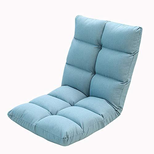LJFYXZ Canapé Paresseux Chaise Pliage Multifonctionnel Réglage à 5 Vitesses Facile à enlever et à Laver Confortable et léger Salon Chambre Chaise de canapé (Couleur : Bleu)
