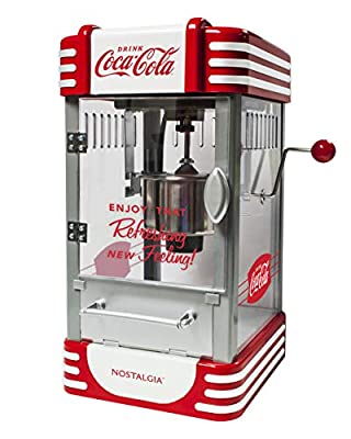 Nostalgia RKP730CK Coca-Cola 2.5-Ounce Kettle Popcorn Maker, Red