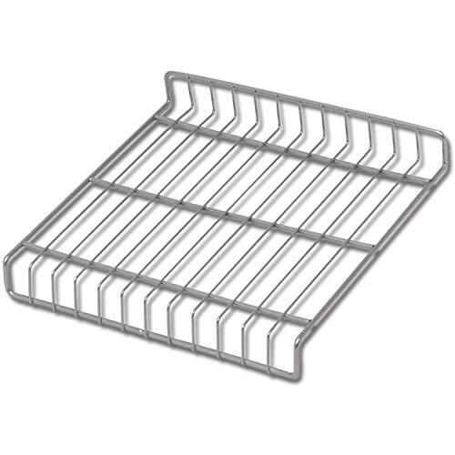 Gedotec Schuhrost Metall Schuh-Ablage für den Schrank-Schrank| Breite: 409 mm | Tiefe: 280 mm | Gitter Stahl silber RAL 9006 | Gitterrost für Garderobe - Flur & Diele | 1 Stück - Schuhgitter mit Clips