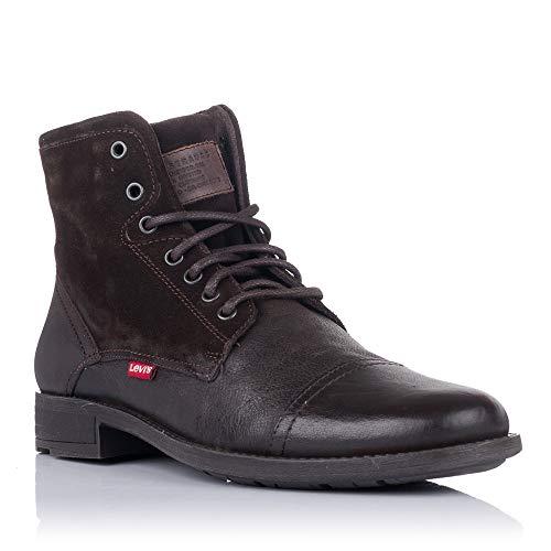 Levi's Herren FOWLER 2.0 Mode-Stiefel, DARK BROWN, 44 EU