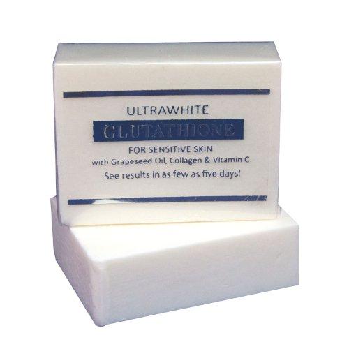5 Bars of Premium Ultrawhite Glutathione Whitening Soap for Sensitive Skin, w/Glutathione, Grapeseed Oil, Collagen, Vitamin C