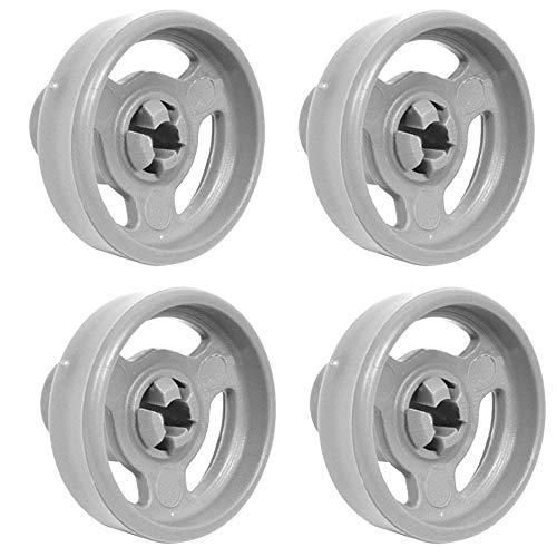 4 ruedas y ejes de la cesta inferior para lavavajillas Indesit C00094189...
