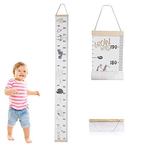 Zerodis Kinder Messlatten Kinder Höhe Maßnahme Wachstumstabelle Tragbare Nette Wandaufkleber Home Raumdekoration für Kleinkinder Babys(#1)