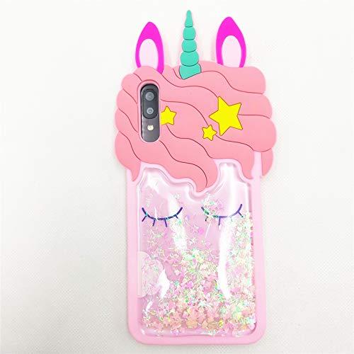 for Galaxy A10E Case Cute Samsung A10E Case Quicksand Unicorn Bling Glitter Case 3D Cartoon Soft Silicone Rubber Cover Women Teen Girls Kids Phone Cases for Samsung Galaxy A10E -5.83' (Galaxy A10E)