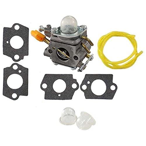 Gmasuber Carburador con junta línea de combustible para 2 tiempos 25 cc 26 cc 30 cc cortador de secuencias sopladores 308054013 308054012 308054004