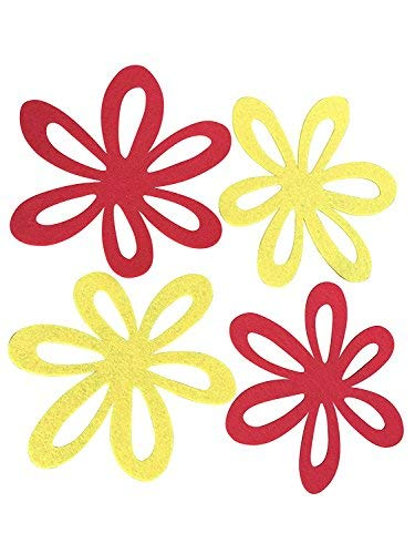 4x–Sartén de 20cm | Flores Fieltro Posavasos | arañazos de protección térmica, mesa decorativa | Primavera | Pascua | molinorc® BRD