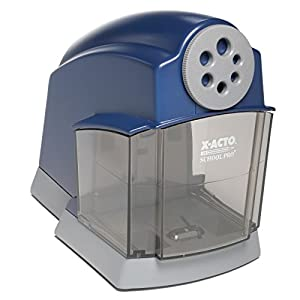 Heavy duty electric pencil sharpener designed specifically for classrooms Durable construction stands up to wear and tear Quiet electric motor provides reliable power with minimal disruption; No electrical draw when not in use Flyaway cutter system s...