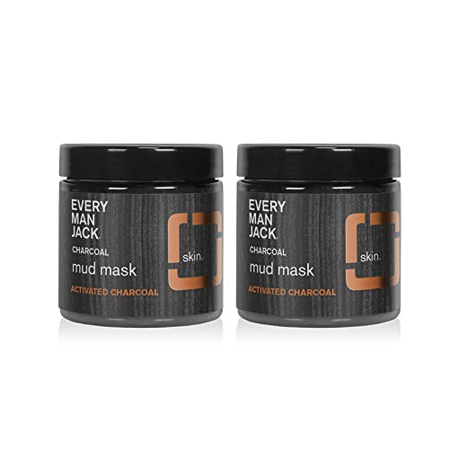 Every Man Jack Activated Charcoal Mud Mask - 3.0-ounces (Twin Pack)