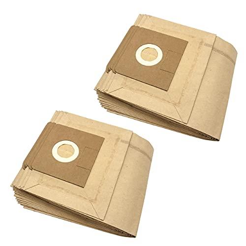 vhbw 20x bolsa compatible con Kärcher NTZ 361 Eco/TE, WD 4.000 - WD 4.999, WD 5.000 - WD 5.999, Xpert NT 360 aspiradora - papel, marrón