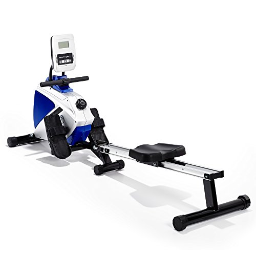 Marcy Azure RE1016 Magnetic Rowing Machine - Black/White/Blue, One Size