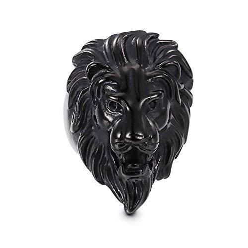 AMY-XCQ Ring, Stainless Steel Titanium Steel Lion Head Men