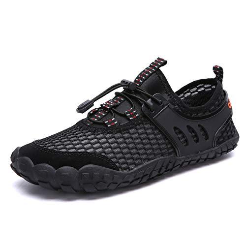 DUORO damskie męskie buty trekkingowe, oddychające, outdoorowe buty do fitnessu, buty do wody, do biegania, wspinaczki, sandały 35-47, - Z Schwarz2 - 45 EU