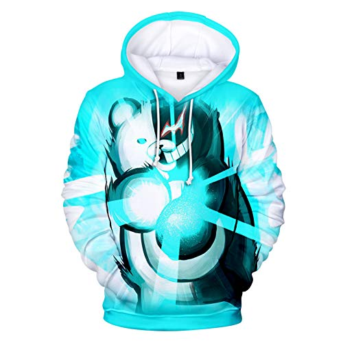 YTQQ-Black and White Bear-Unisex 3D Sweater Streetwear, Anime Cartoon Cosplay Disfraz Sudadera Pullover Suter con cordn,Sudadera con Bolsillo de Canguro-XS