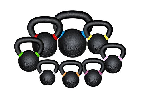 We R Sports Premium Kettlebells 4kg To 48kg Home Gym Fitness Exercise Kettlebell Training (16 Kilograms)