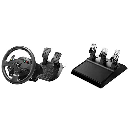 THRUSTMASTER TMX Force Feedback (Volante incl. 2-Pedali, Force Feedback, 270° - 900°, Xbox One/PC)+3 Pedaliera ADD On - PS4 / PS3 / Xbox One/PC