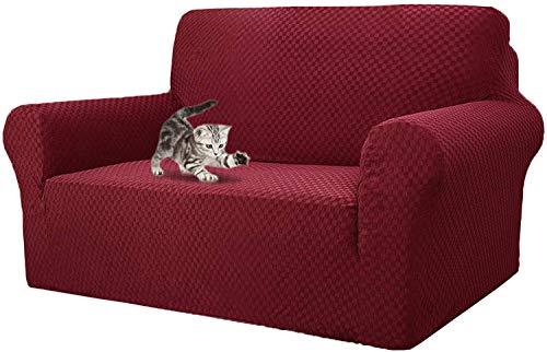 BANNAB Las más Nuevas Fundas de sofá de Jacquard a Cuadros, Protector de Muebles Antideslizante de reemplazo de Funda de sofá de Spandex de poliéster elástico