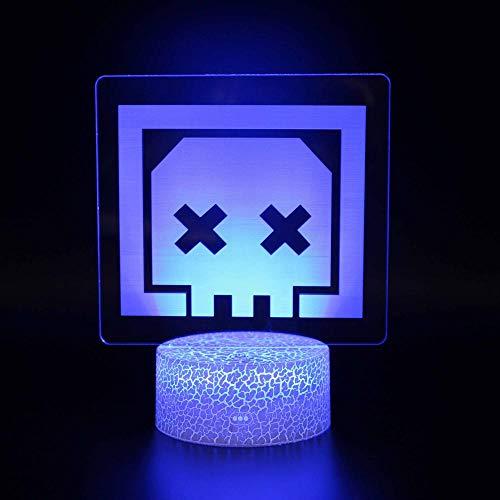 Apex Legends 3D Luz nocturna 16 colores cambiantes lámpara de noche con mando a distancia, regalo de cumpleaños para niños y adultos